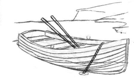 How to draw Ekranoplan with a pencil step by step 7
