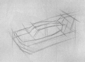 How to draw the plane MiG-25 with a pencil step by step 2
