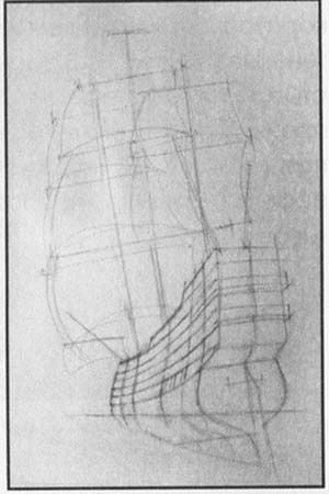 How to draw the tank the Tiger with a pencil step by step 2
