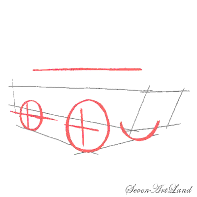 How to draw the Tractor with a pencil step by step 3