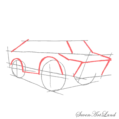 How to draw the Tractor with a pencil step by step 4