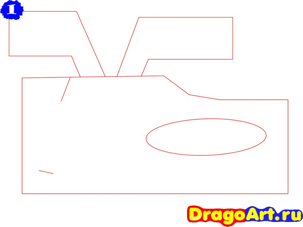 How to draw the motorcycle step by step 2