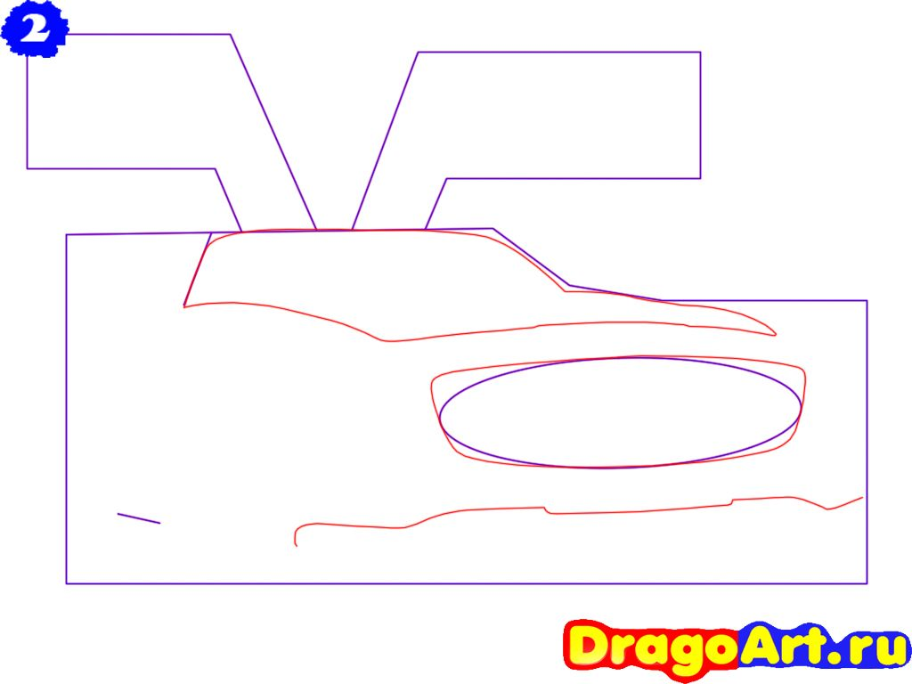 How to draw the motorcycle step by step 3