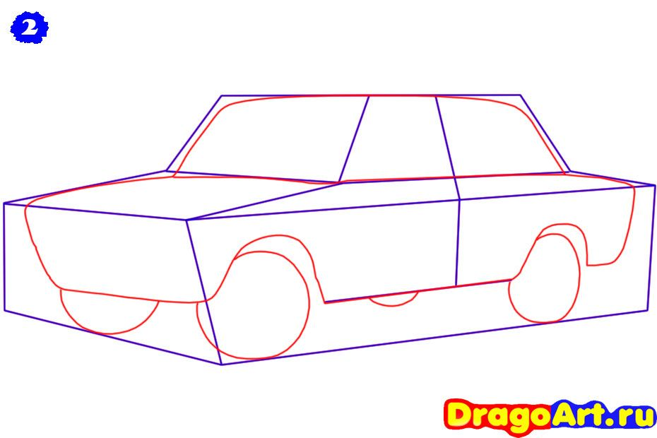 How to draw the car, the Ferrari 599 GTO car step by step 3