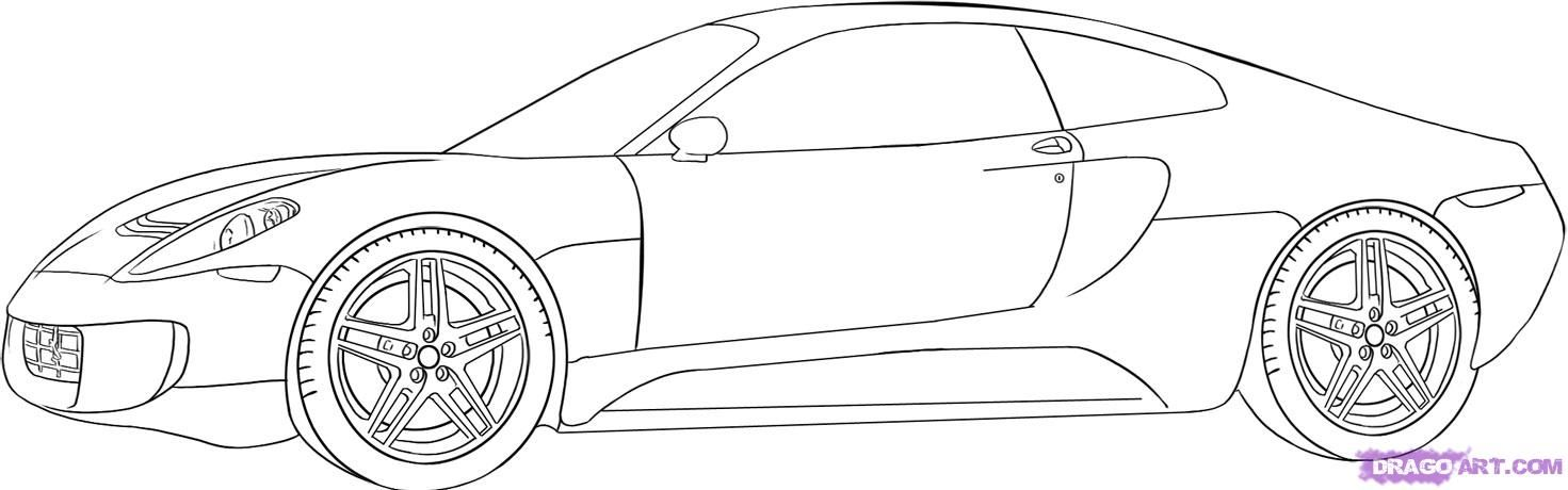 How to draw the car, the Ferrari 599 GTO car step by step