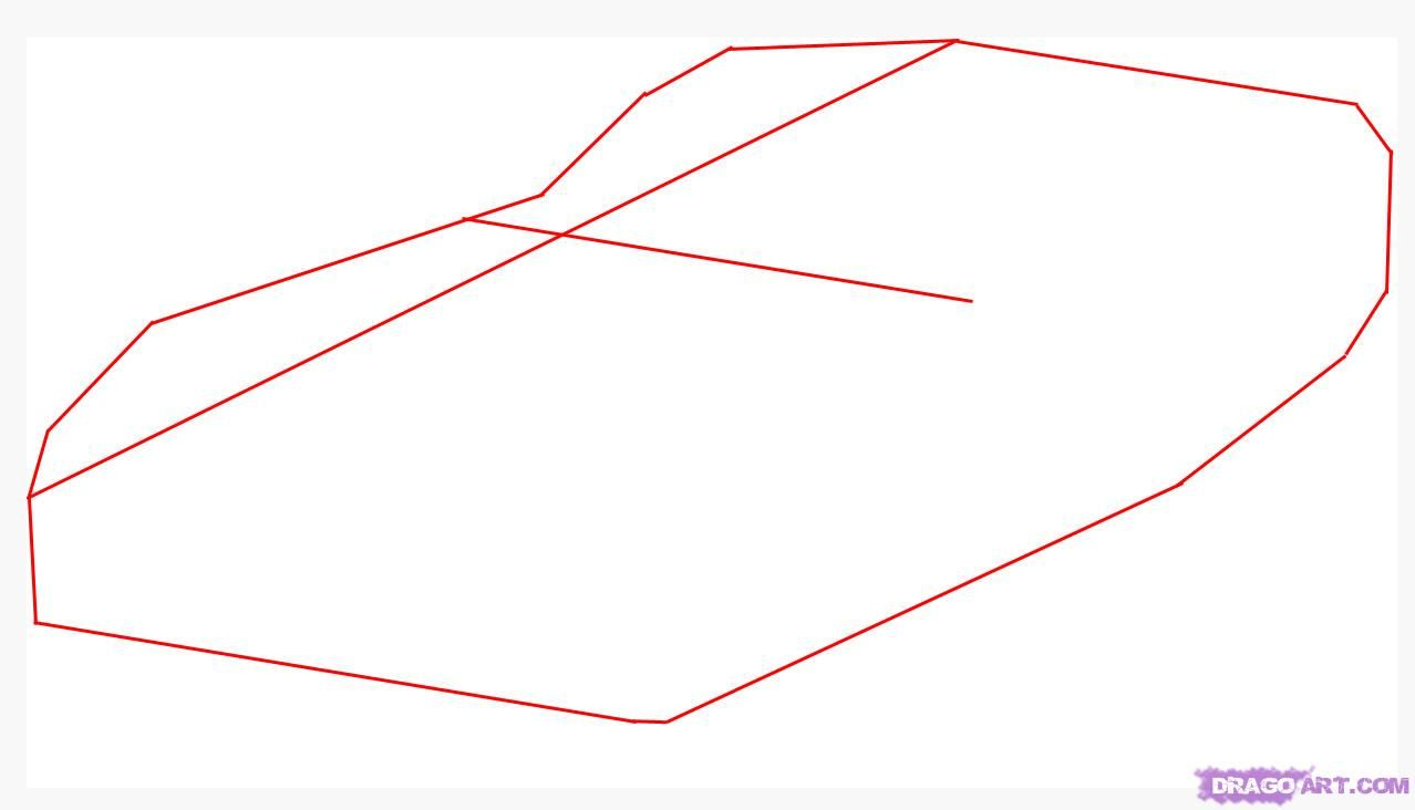 How to draw the plane a stealth (B-2 SpiritStealthBomber) step by step 2