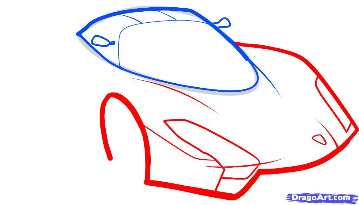 How to draw the F1 car step by step 4