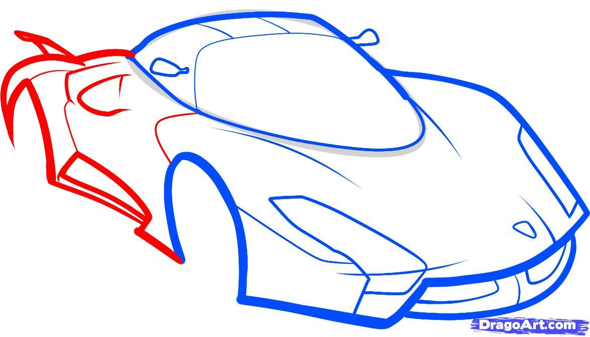 How to draw the F1 car step by step 6