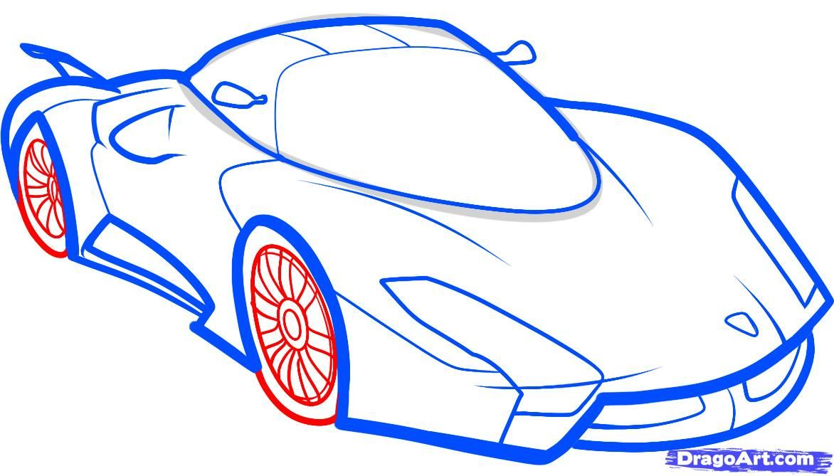 How to draw the F1 car step by step 7
