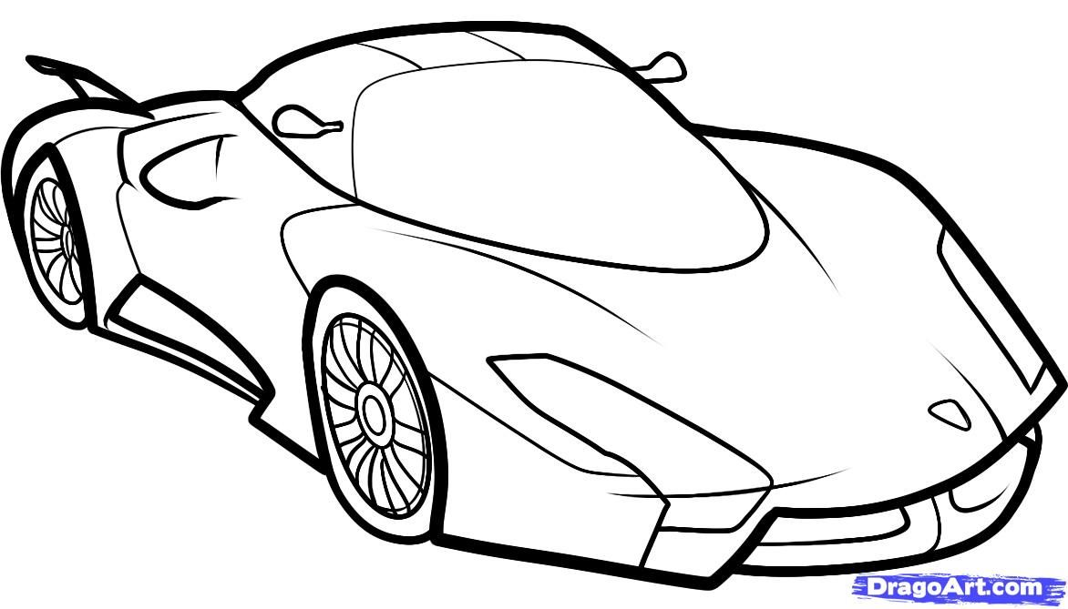 How to draw the fastest car (SSC UltimateAero II) step by step