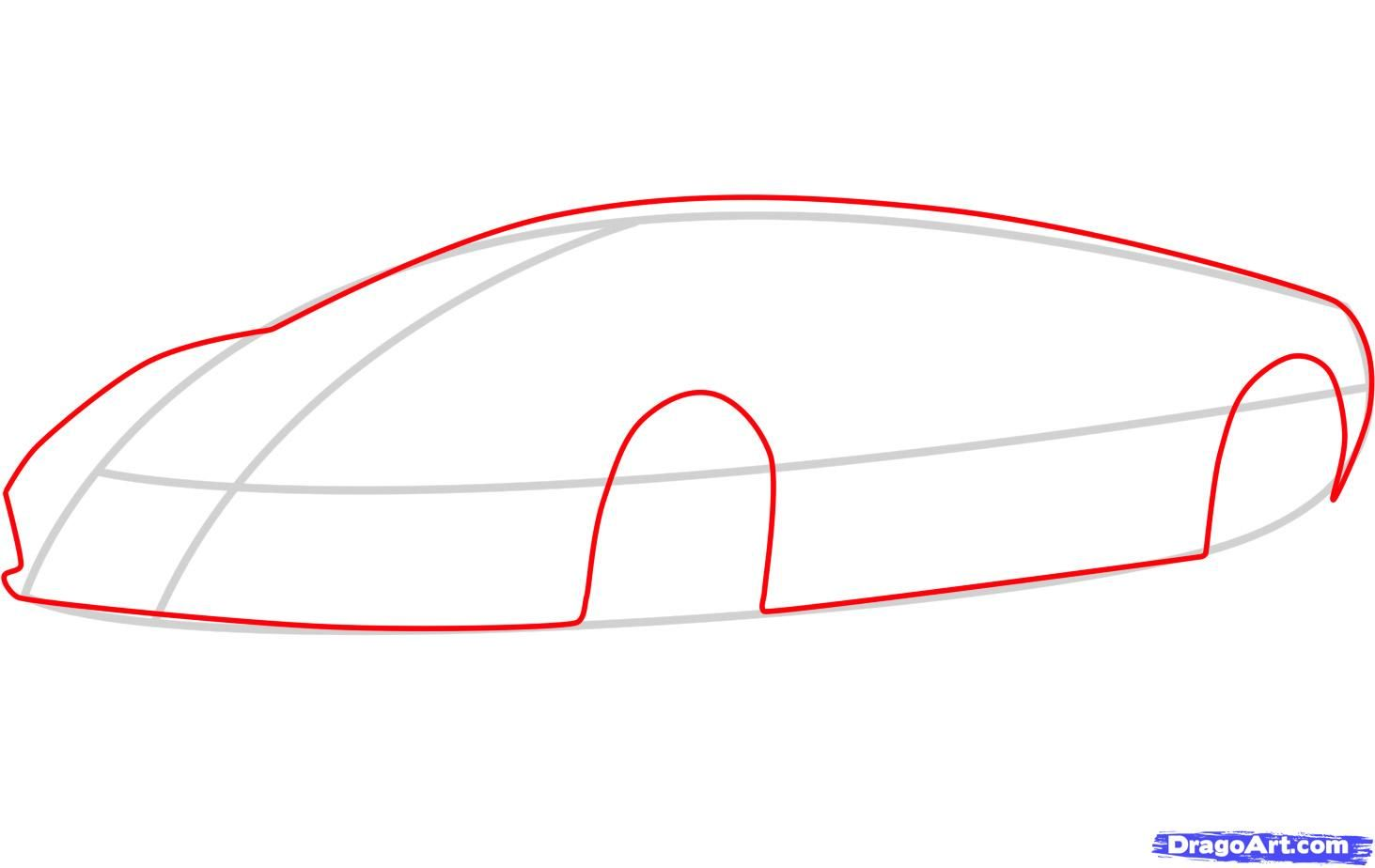 How to draw the Mercedes-Benz car step by step 3