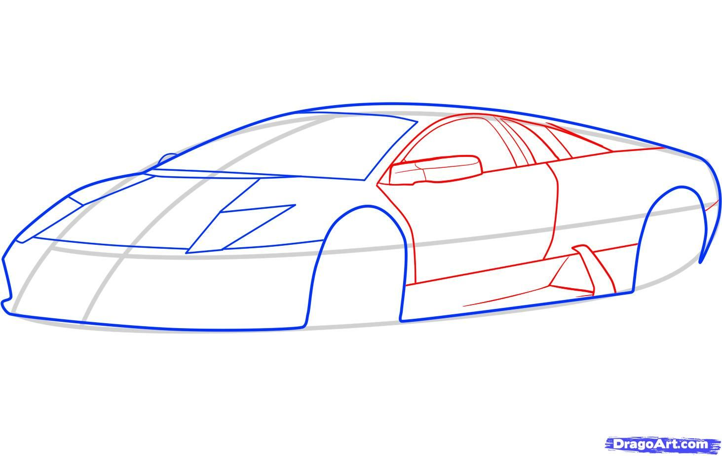 How to draw the Mercedes-Benz car step by step 5