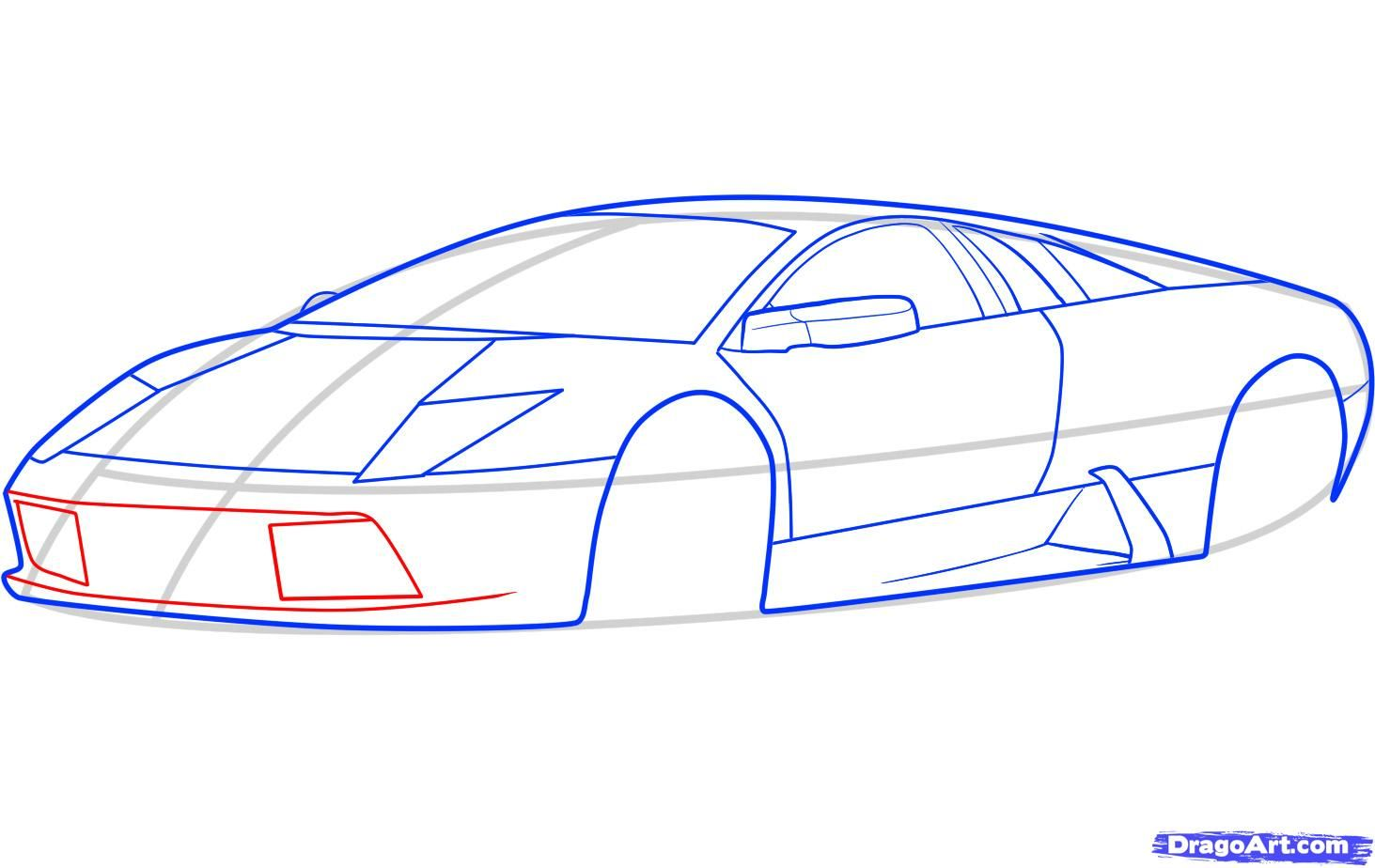 How to draw the Mercedes-Benz car step by step 6