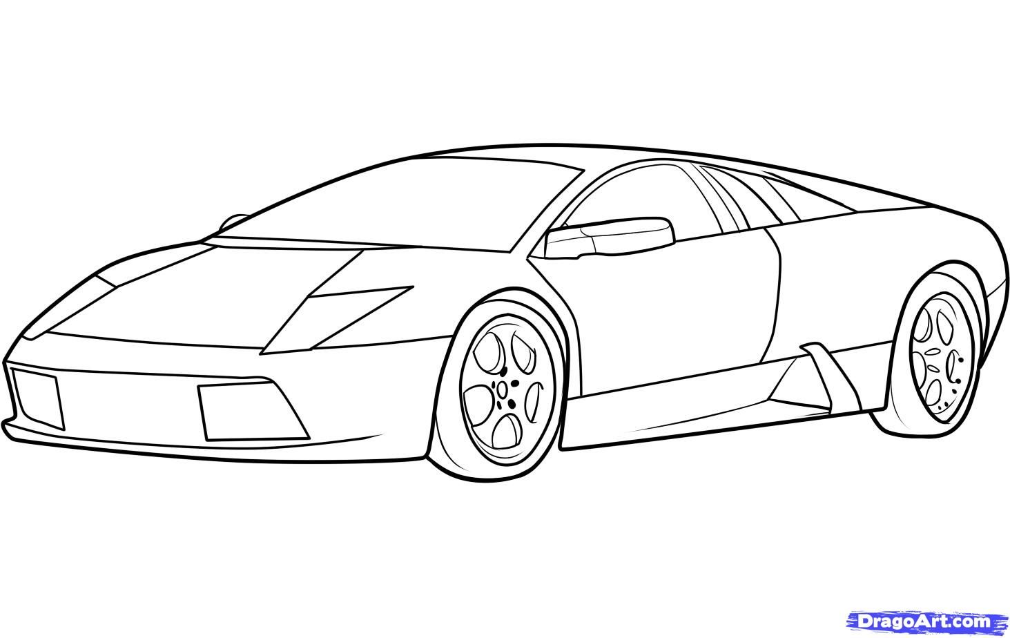 How to draw Lamborghini (Lamborghini Murcielago) step by step