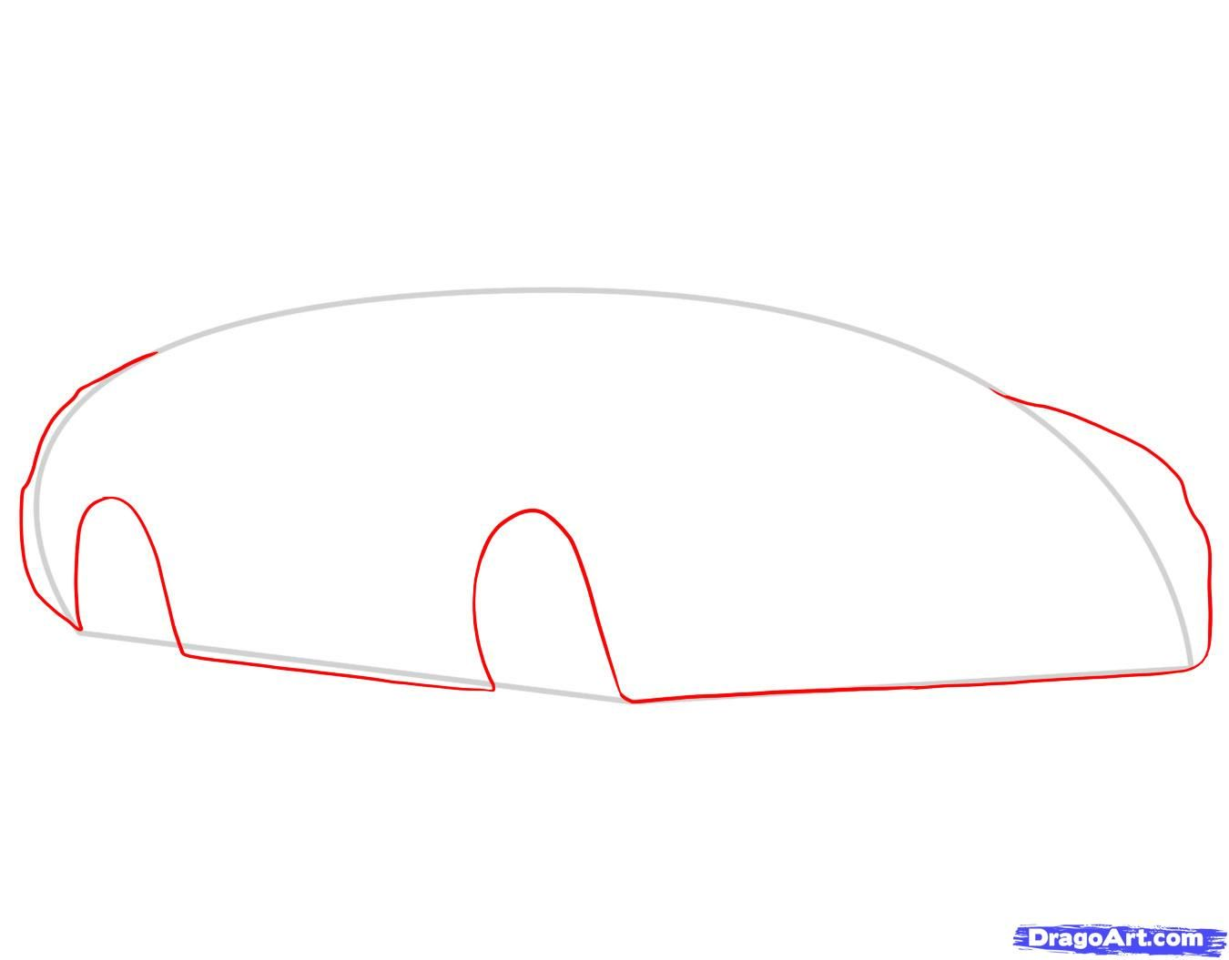 How to draw the Camaro car step by step 4