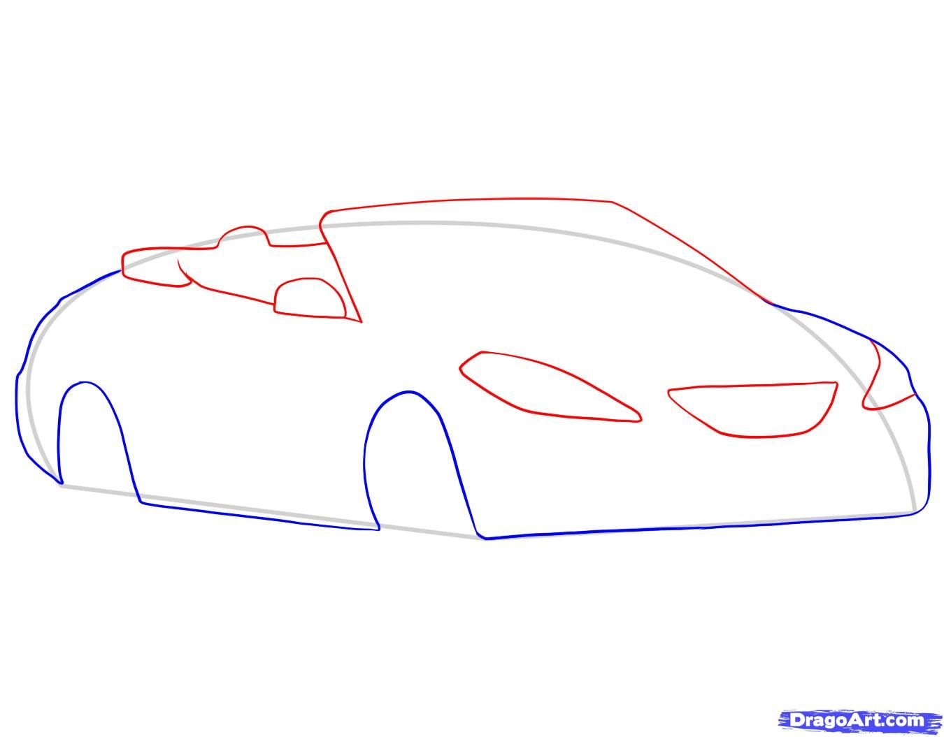 How to draw the Camaro car step by step 5