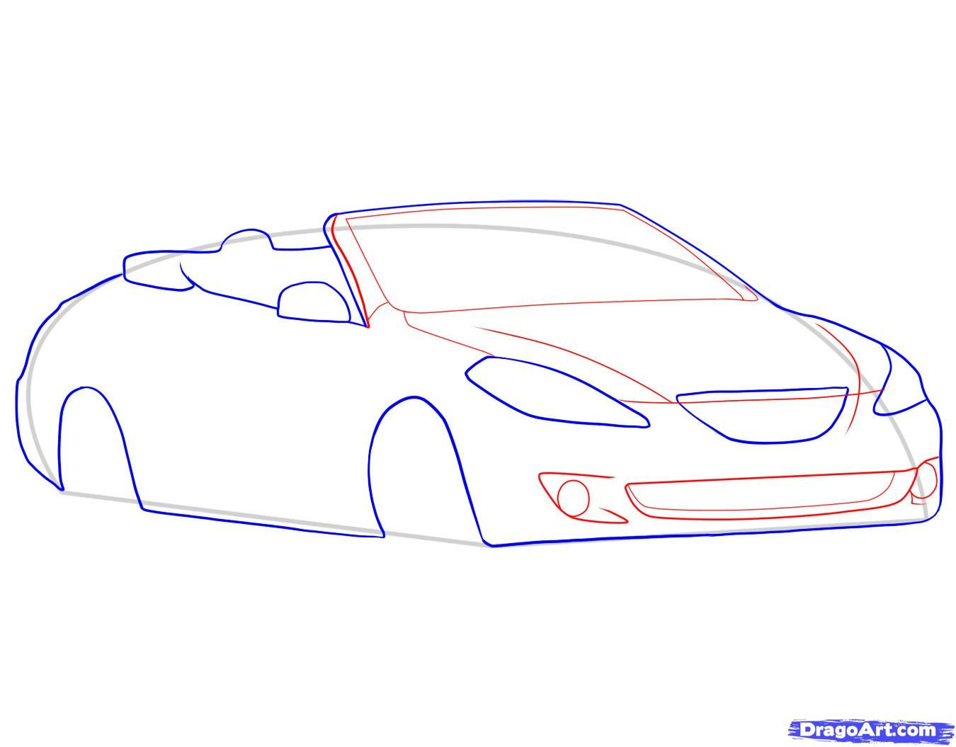 How to draw the Camaro car step by step 6