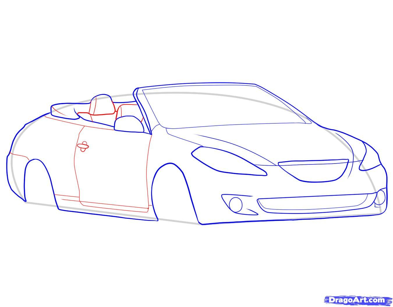 How to draw the Camaro car step by step 7