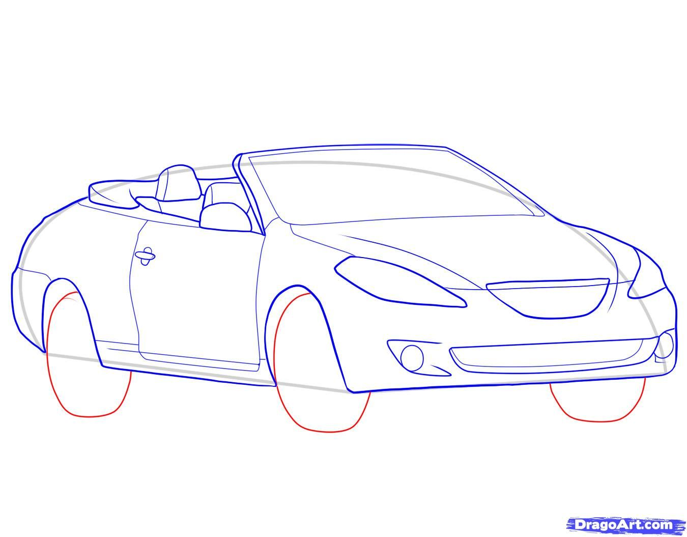 How to draw the Camaro car step by step 8