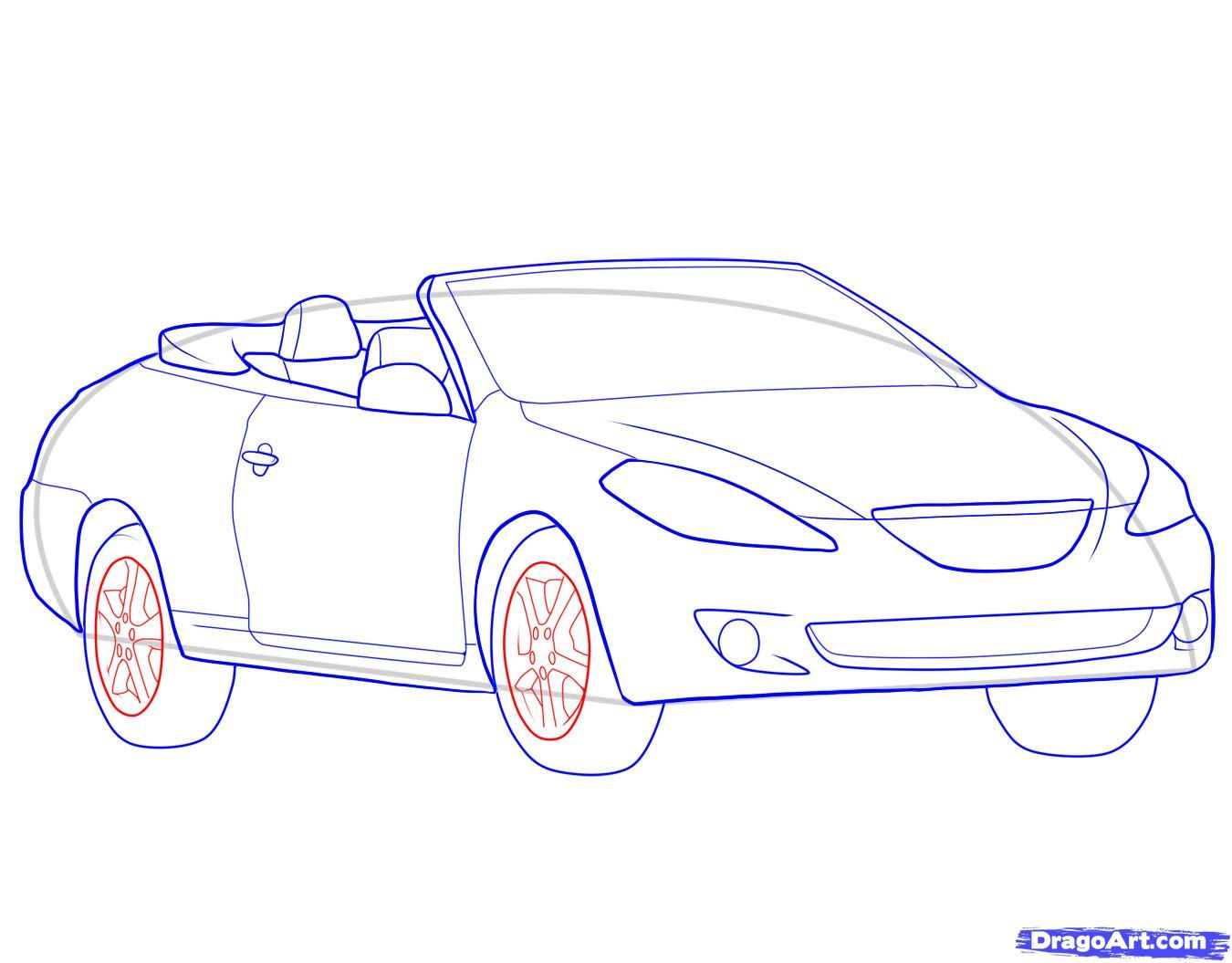 How to draw the Camaro car step by step 9