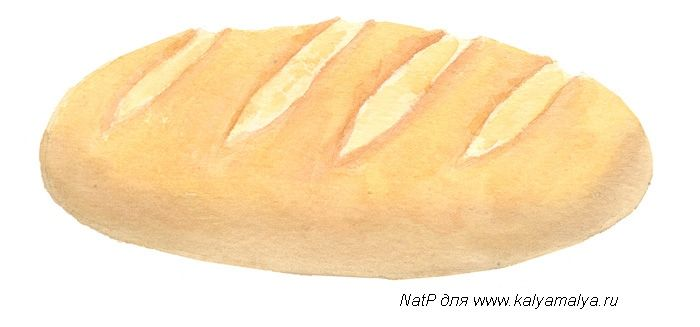 We learn to draw Bread