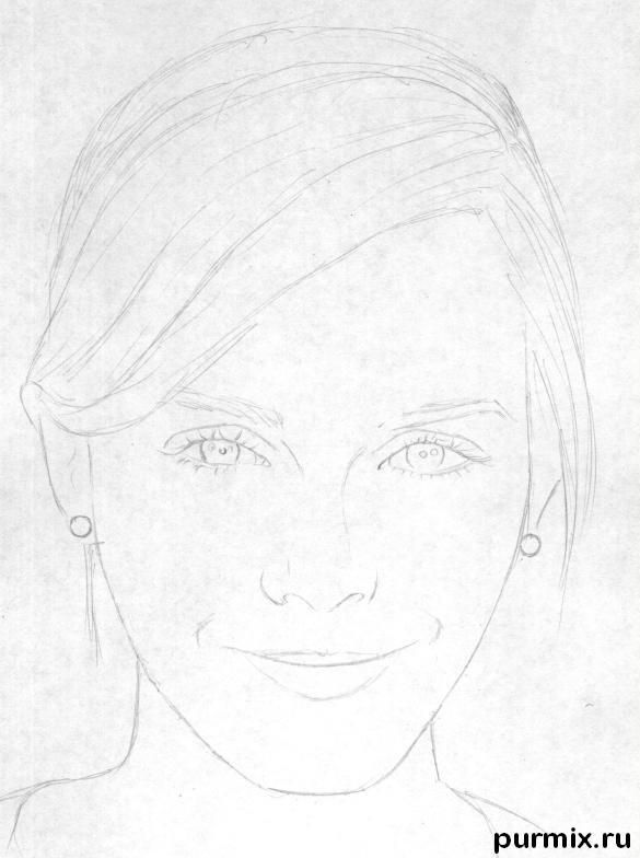 How To Draw Emma Watson S Portrait With A Simple Pencil Step By Step
