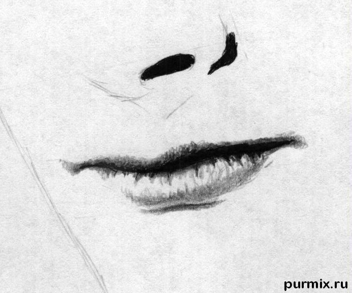 How to learn to draw Angelina Jolie's portrait a simple pencil 4