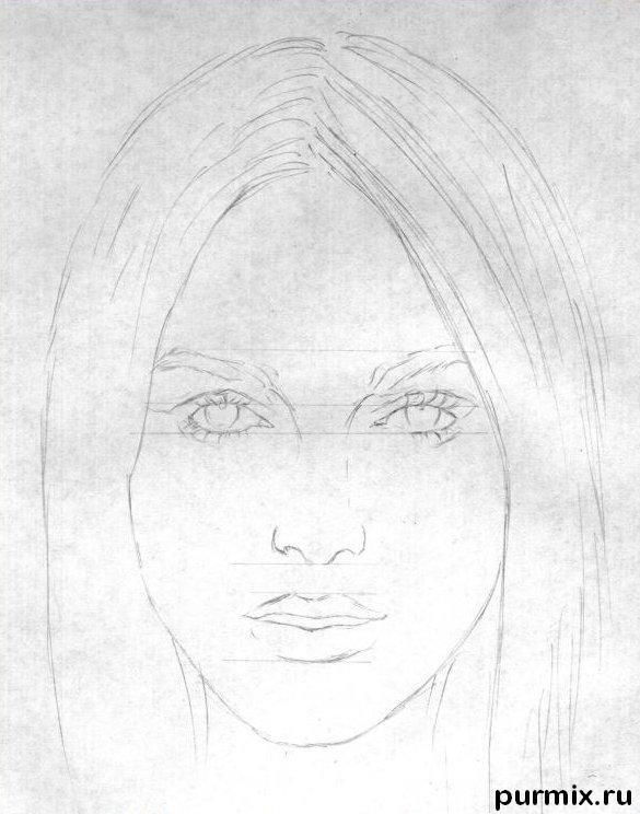 how to draw a portrait 3 4