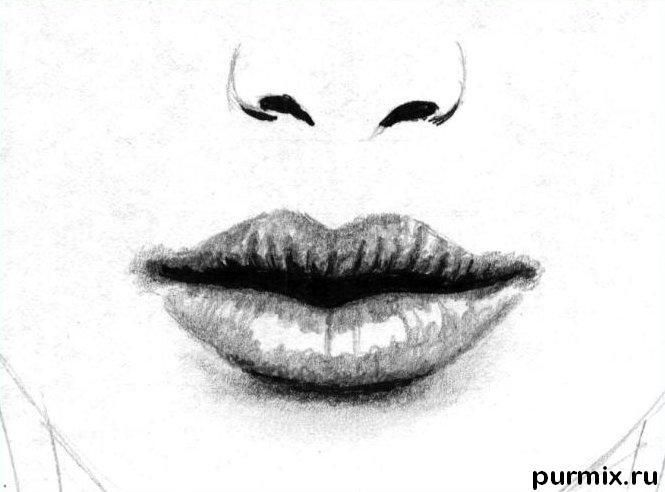 How to draw Selena G?mez's portrait with a simple pencil 4
