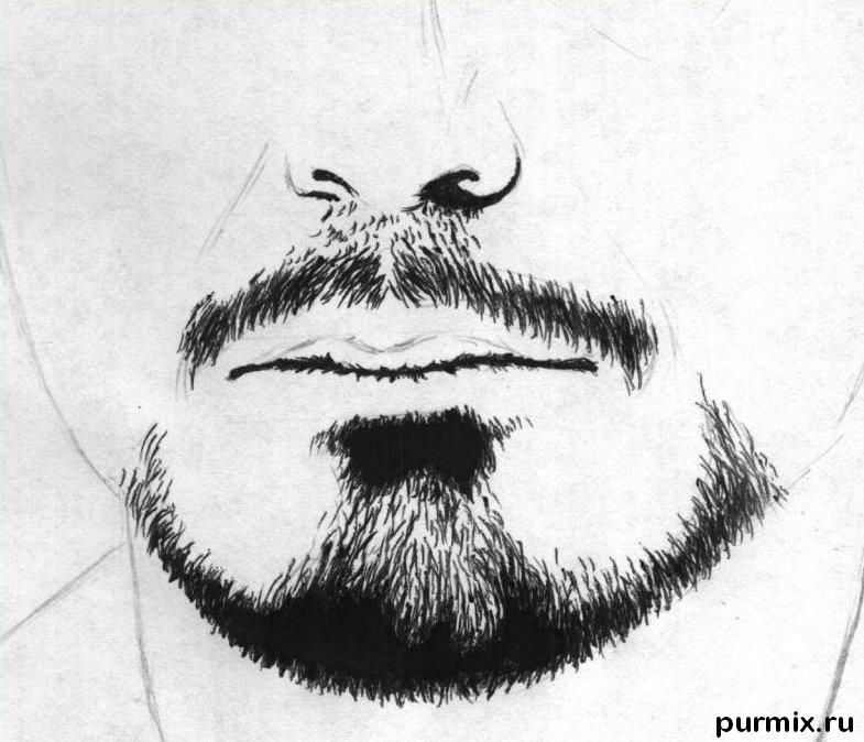 How to draw a portrait Thomas Cruz with a simple pencil on paper 3