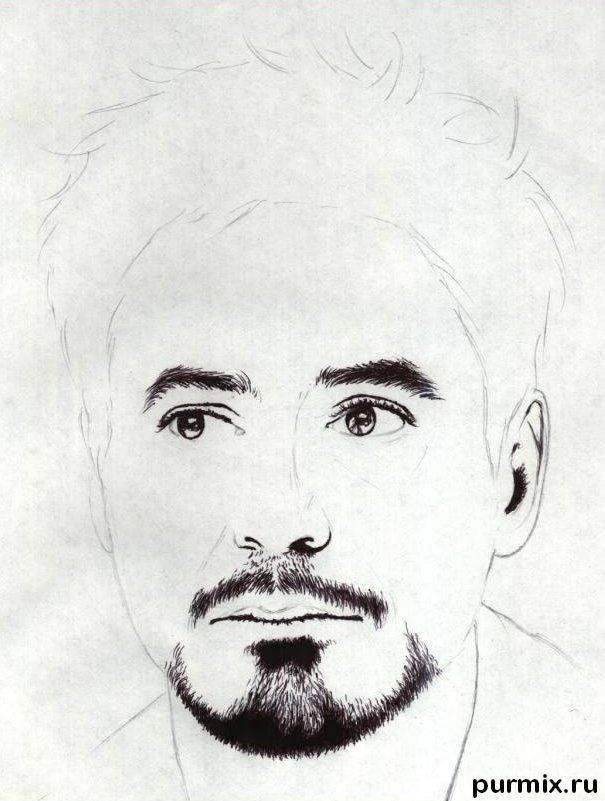 How to draw a portrait Thomas Cruz with a simple pencil on paper 4