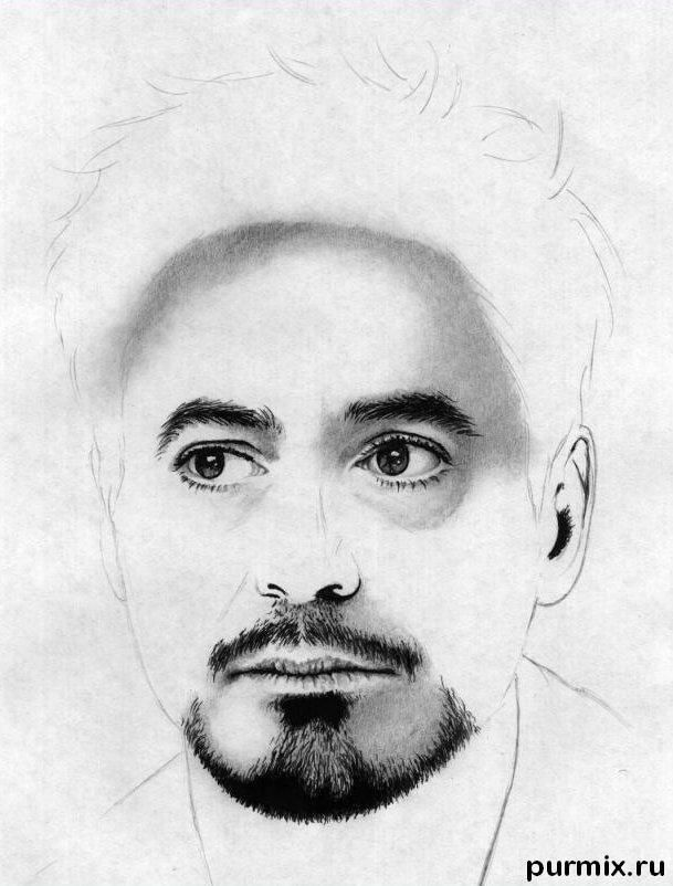 How to draw a portrait Thomas Cruz with a simple pencil on paper 7