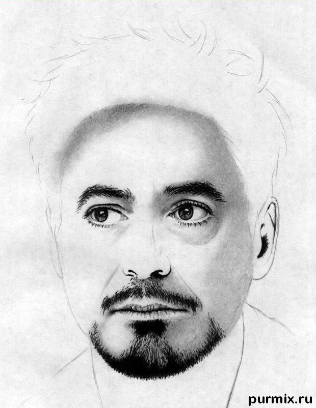 How to draw a portrait Thomas Cruz with a simple pencil on paper 8