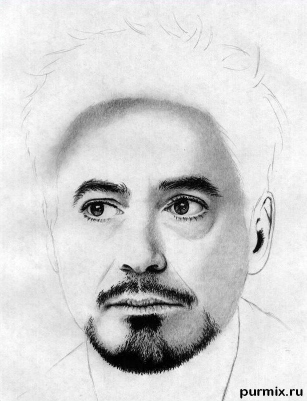 How to draw a portrait Thomas Cruz with a simple pencil on paper 9
