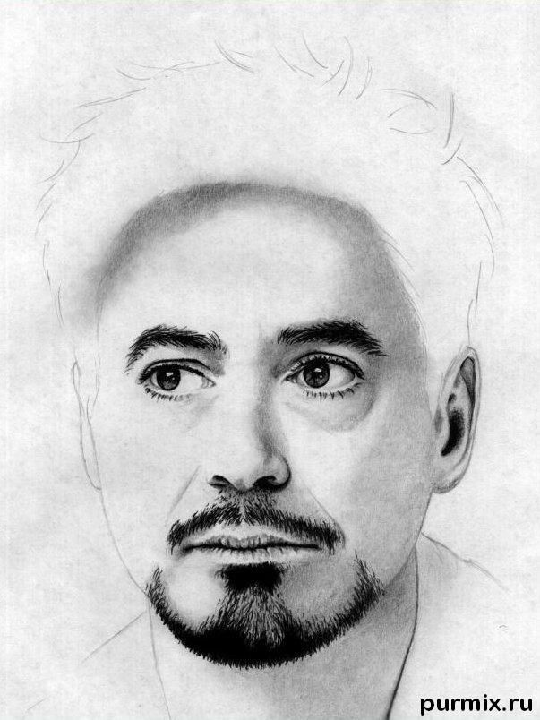 How to draw a portrait Thomas Cruz with a simple pencil on paper 10