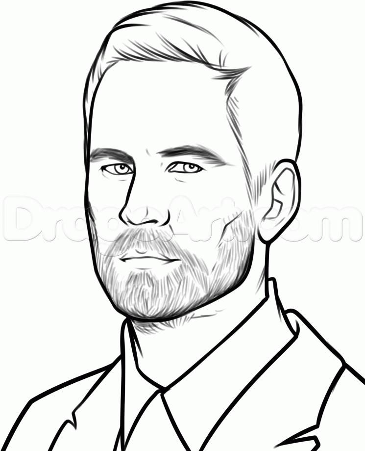 As it is simple to draw Paul Walker's portrait with a pencil step by step