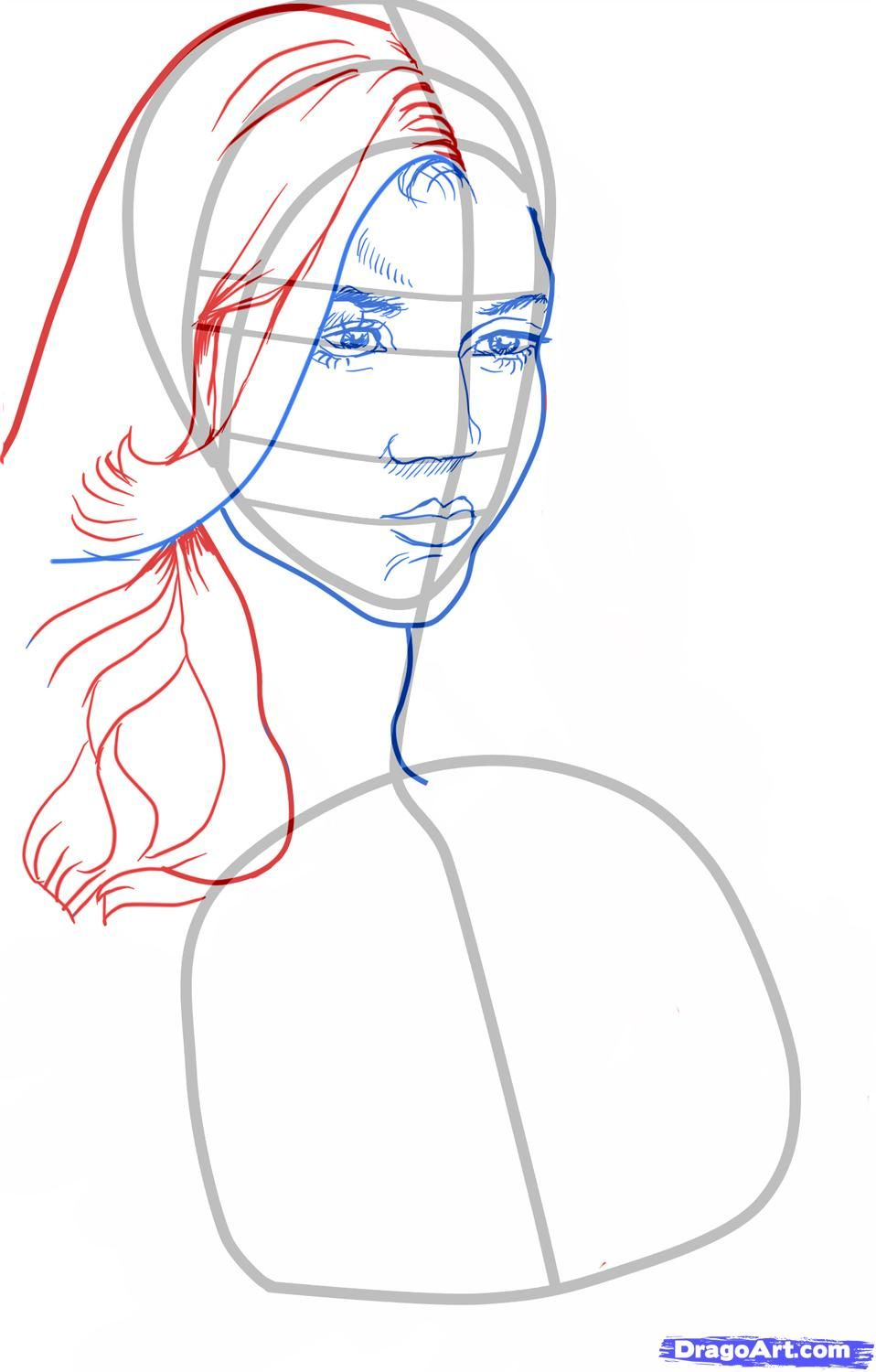 How to draw Stephane Salvatore's portrait with a pencil step by step 5