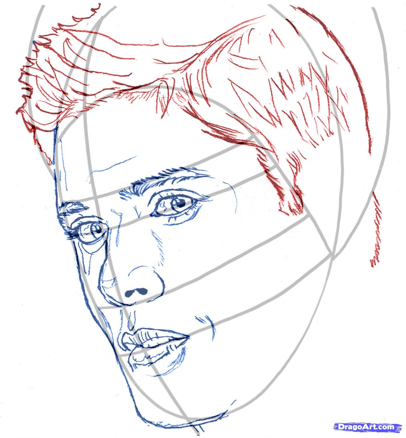 How to draw Rosalie Cullen's portrait with a pencil step by step 5