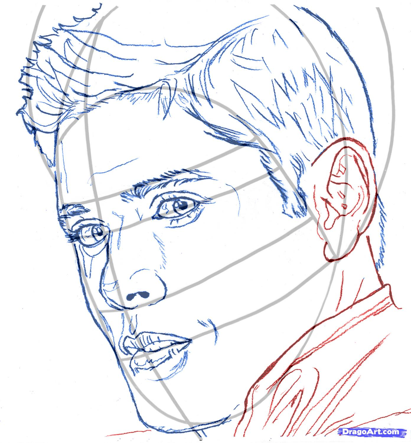 How to draw Rosalie Cullen's portrait with a pencil step by step 6