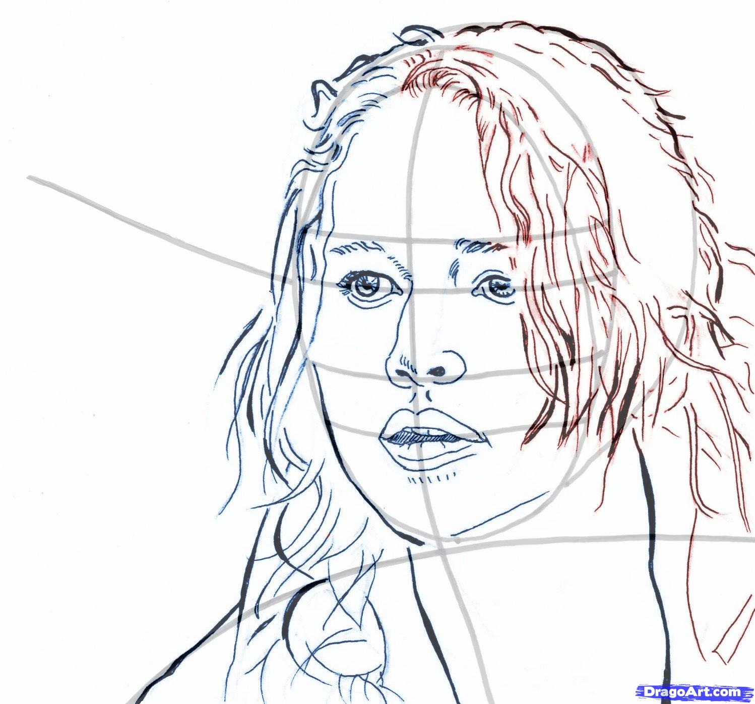 How to draw Romeo and Juliette's portrait with a pencil step by step 10