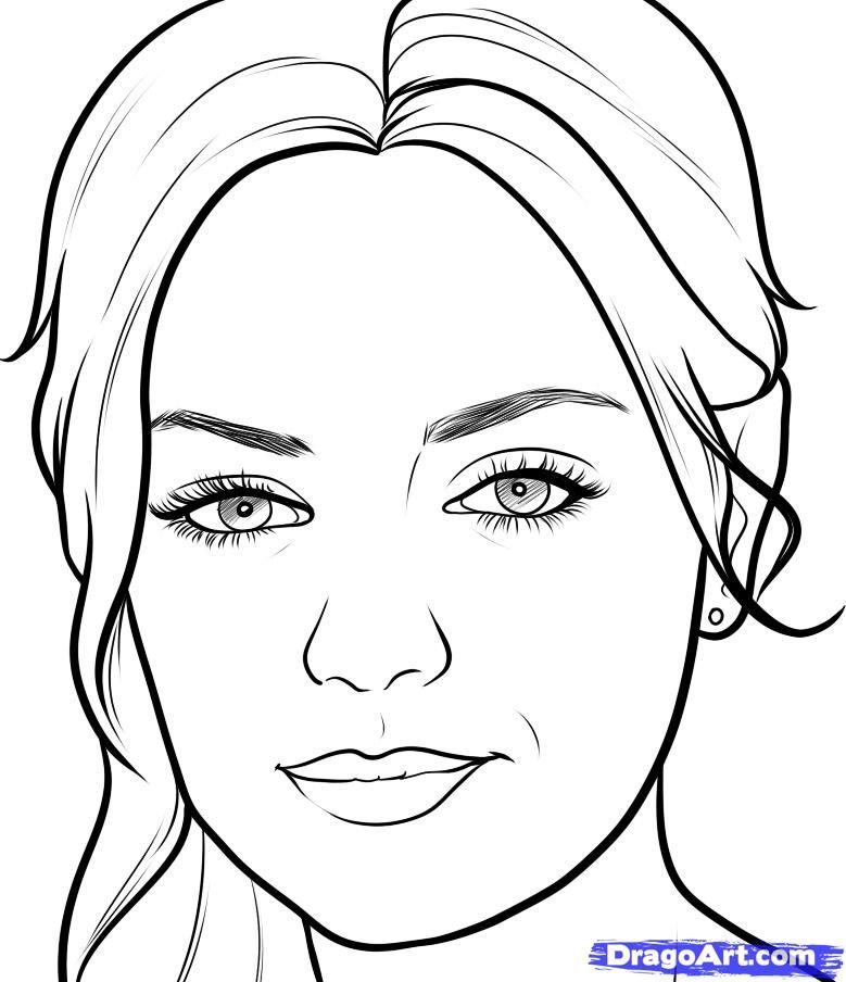 How to draw a portrait Mila Kunis with a pencil step by step