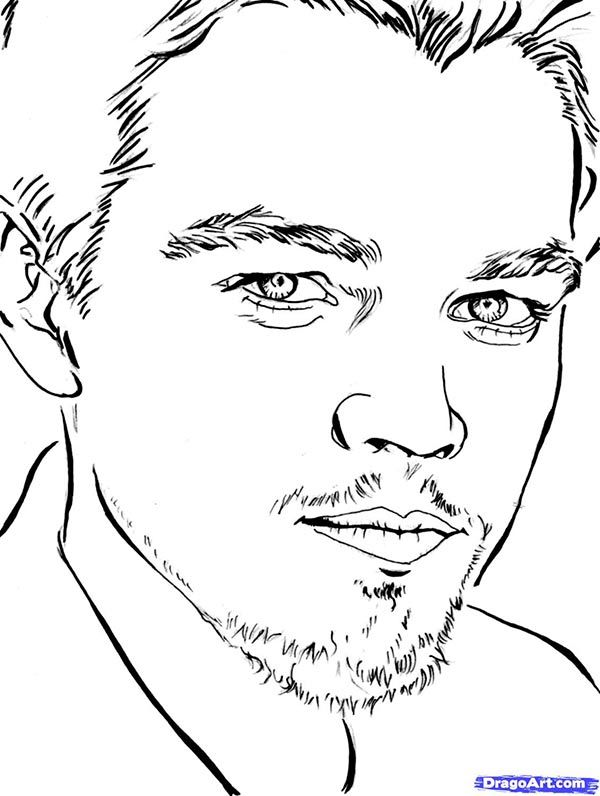 How to draw Leonardo DiCaprio's portrait with a pencil step by step
