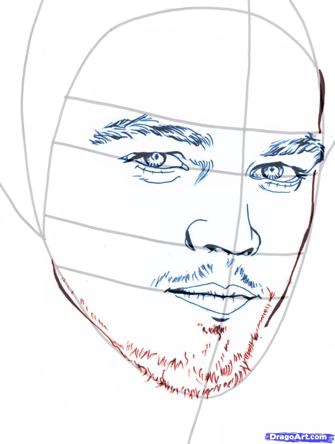 How to draw Damon Salvatore's portrait with a pencil step by step 8