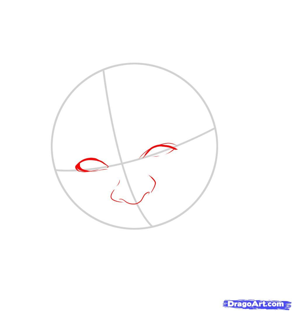 How to draw Merlyn Manson's portrait with a pencil step by step 3