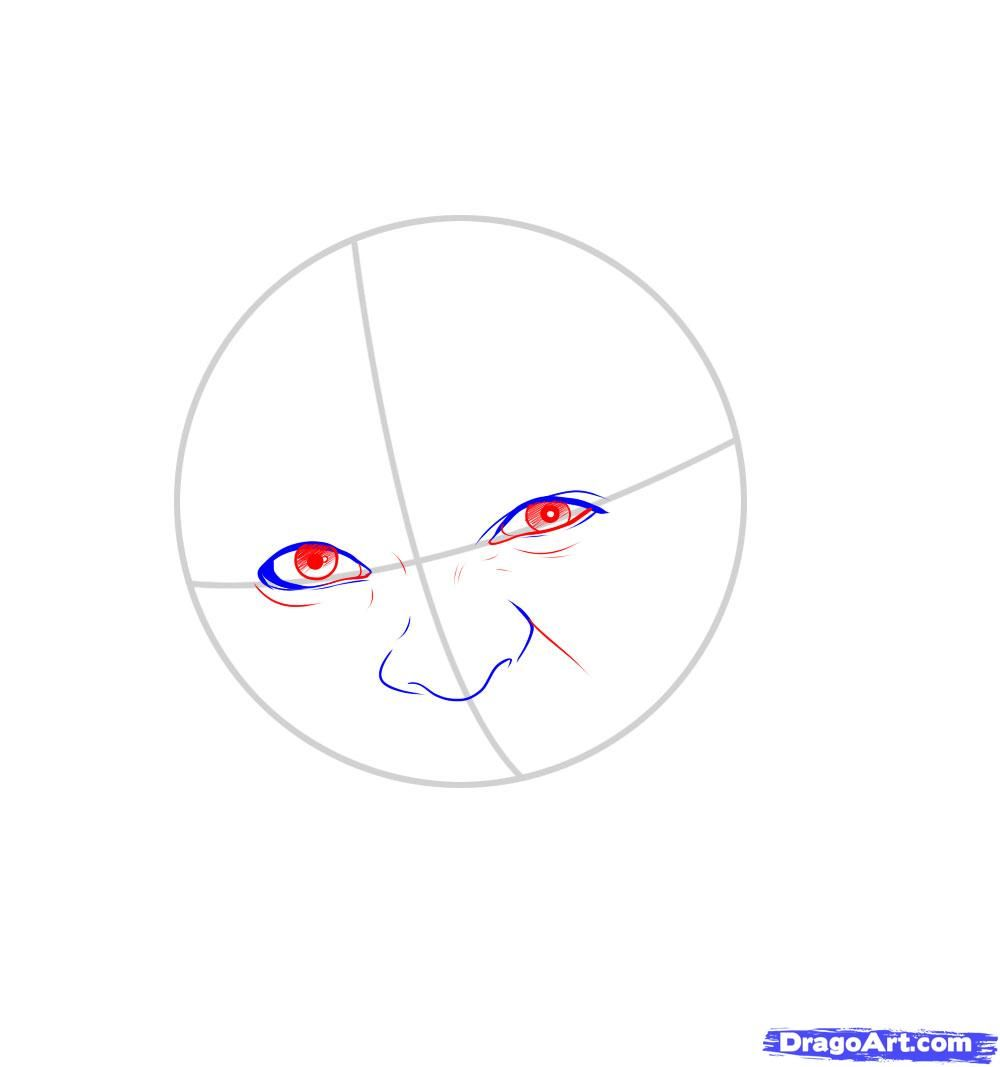 How to draw Merlyn Manson's portrait with a pencil step by step 4
