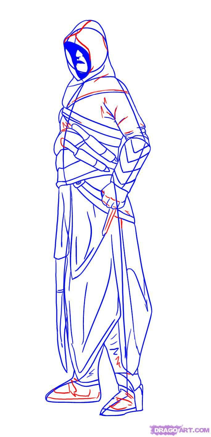 How to draw Ramus's hero from League of Legends with a pencil step by step 6
